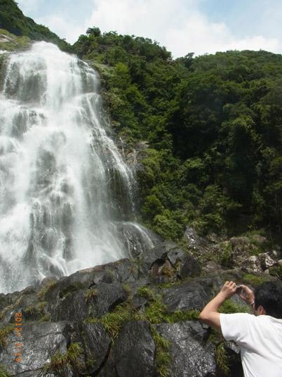 大川の滝 夢中で撮影。