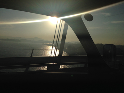 関門橋から