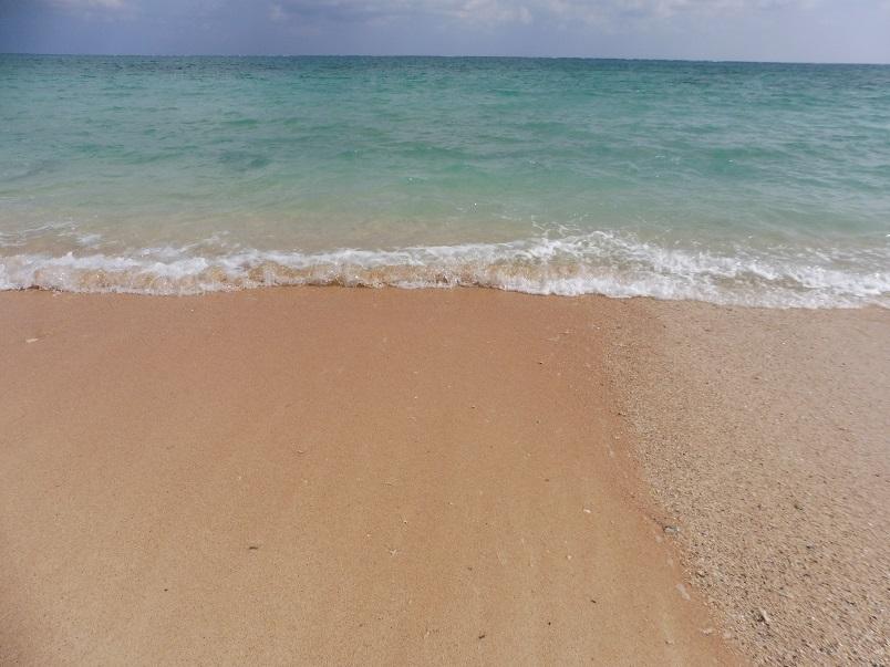綺麗な砂浜です。波も穏やか。